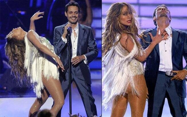 O casal Jennifer Lopez e Marc Anthony