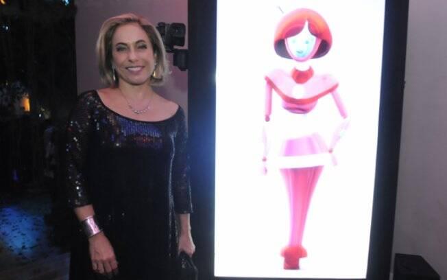 Cissa Guimarães na festa de lançamento de