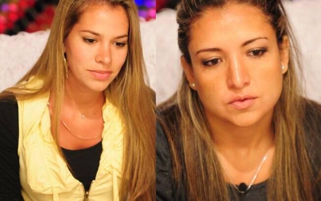 Adriana e Natália disputam a permanência na casa, para seguirem na luta pelo prêmio de R$ 1,5 milhão