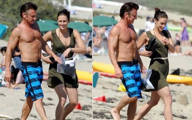 Sean Penn e Stacey Koplin em Malibu