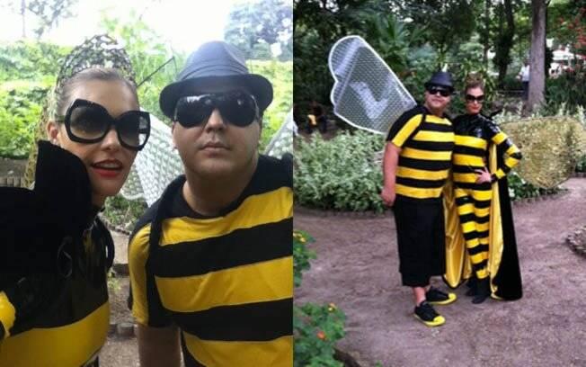 Fernanda Lima e André Marques vestidos de abelhas para a terceira temporada de