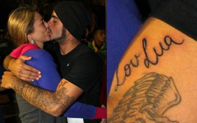 Pedro Vianna e sua tatuagem em homenagem à Luana Piovani