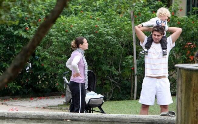 Vanessa Lóes e Thiago Lacerda: contato com a natureza