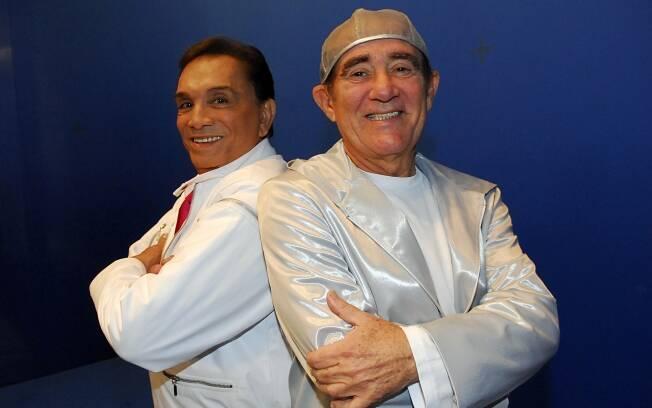 Dedé Santana e seu parceiro de longa data, Renato Aragão