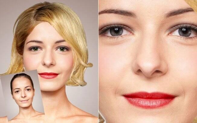 Além do cabelo e maquiagem, alteramos também a cor dos olhos