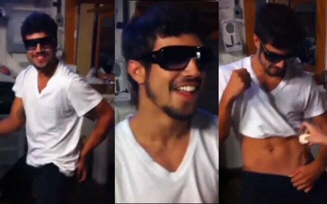 Caio Castro dançando