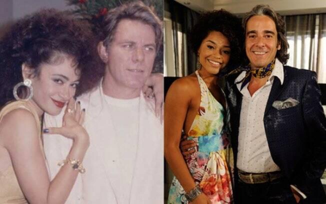 O casal Jacques Leclair e Clotilde: juntos em 86 (Tânia Alves e Reginaldo Faria) e em 2011 (Juliana Alves e Alexandre Borges)