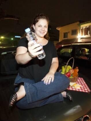 Gabriela Bianco viu o stress na estrada se transformar em cooperação e diversão após uma gentileza