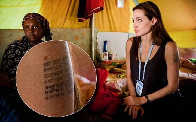 A atriz é conhecida por seu trabalho humanitário em todo o mundo