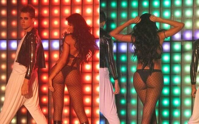 Ariadna dublou várias músicas durante o show