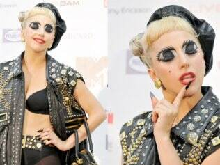 Lady Gaga no dia do concerto prol Japão, no MTV Video Music Aid Japan, em Chiba, Japão