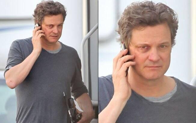 Colin Firth e o olho roxo em sete de filmagens