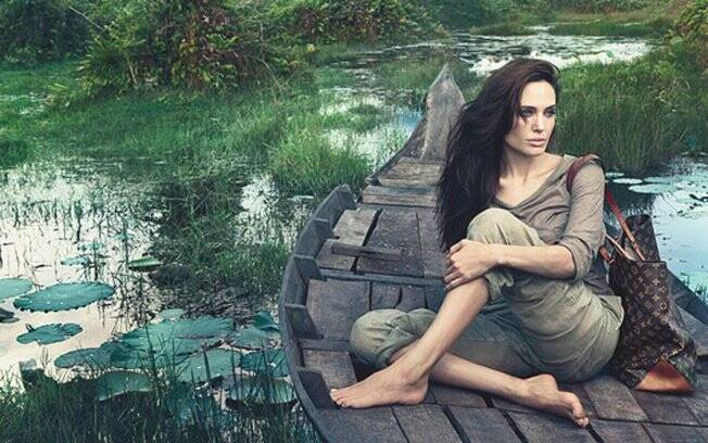 Angelina Jolie na nova campanha da Louis Vuitton