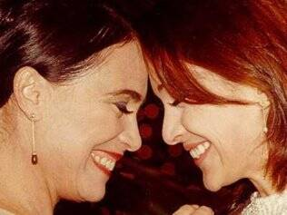 Helena (Regina Duarte) e Eduarda (Gabriela Duarte) em