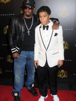 P. Diddy e o filho Justin: limusine de luxo como prêmio por boas notas