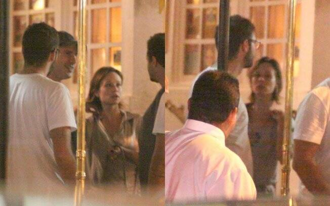 Mariana Ximenes com o rapaz misterioso no aniversário de Cleo Pires no dia 27 de março