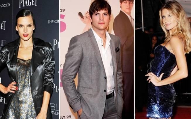 Gisele Bündchen, Ashton Kutcher e Alessandra Ambrosio estarão juntos na mesma passarela