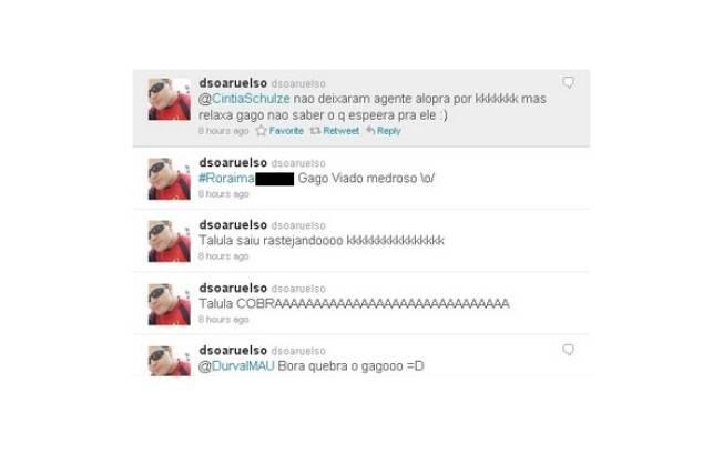 Dsoaruelso ameaça Diogo no Twitter