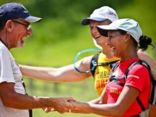 Sorriso no rosto: a alegria também é marca registrada dos ultramaratonistas