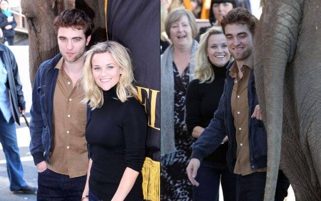 Reese Witherspoon e Robert Pattinson na première de