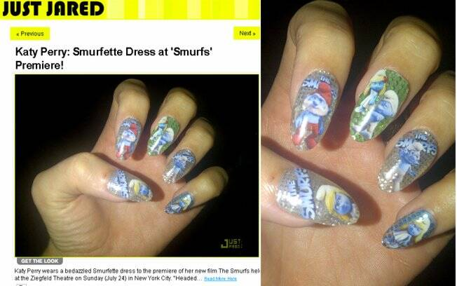 O site Just Jared publicou um zoom das unhas dela