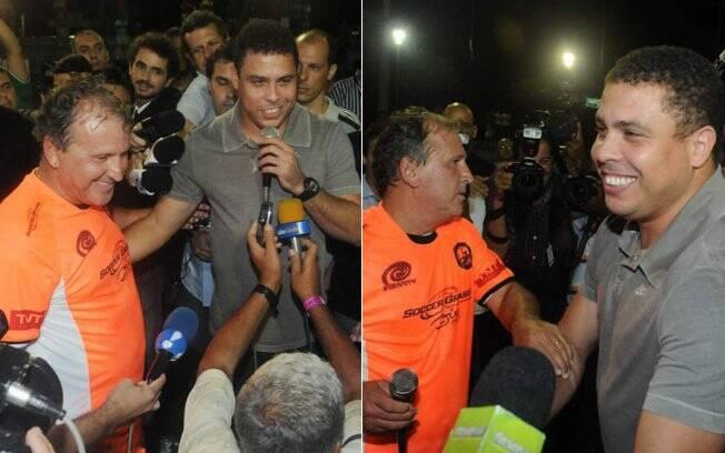 Ronaldo é recebido com festa no evento