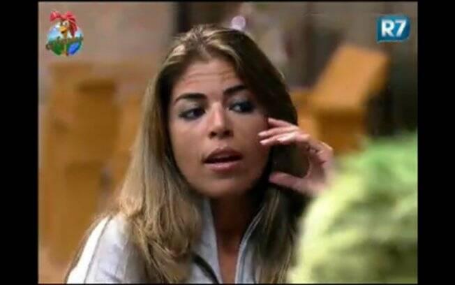 Raquel expõe seus sentimentos e desabafa com os peões