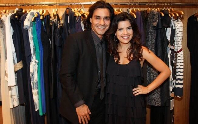 André Gonçalves e Vanessa Giácomo, que na novela são ex-namorados