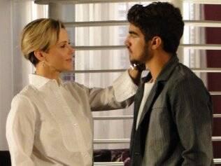 Guilhermina Guinle e Caio Castro durante as gravações
