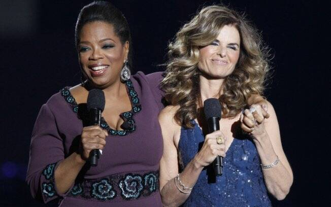 Oprah e a ex-esposa de Arnold Schwarzenegger, Maria Shriver