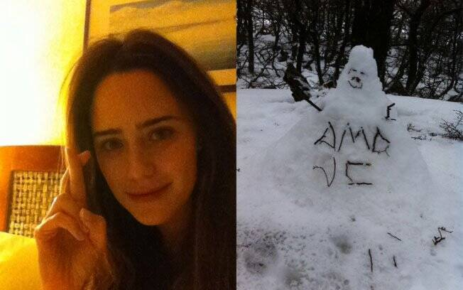 Para matar as saudades, Fernanda Vasconcellos posta fotos no Twitter para o namorado Henri Castelli