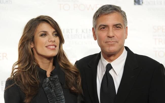George Clooney e Elisabetta Canalis: feliz sem casamento