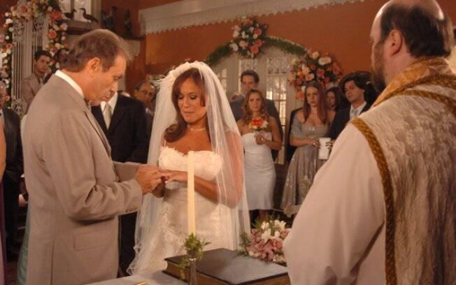 Maria do Carmo (Susana Vieira) e Giovani (José Wilker) em