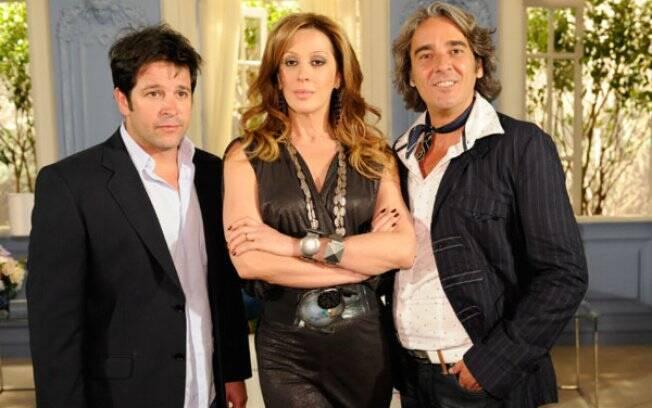 Murilo Benício, Claudia Raia e Alexandre Borges em