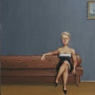 Tema solidão: pintura de Rodrigo Cunha