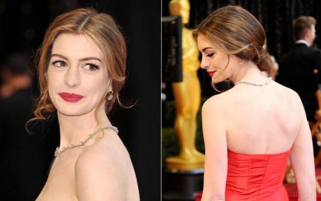 Anne Hathaway, a dona da noite. A atriz apresentou a premiação