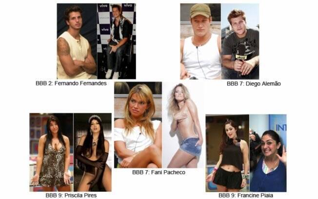 Fernando Fernandes é modelo; Diego Alemão, apresentador; Fani ataca de empresária do mundo da moda; Priscila Pires é repórter; Francine é atriz e apresentadora de TV.