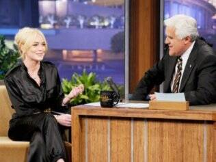 Lindsay Lohan e Jay Leno: ela escolheu o apresentador para falar pela primeira vez em público sobre suas prisões