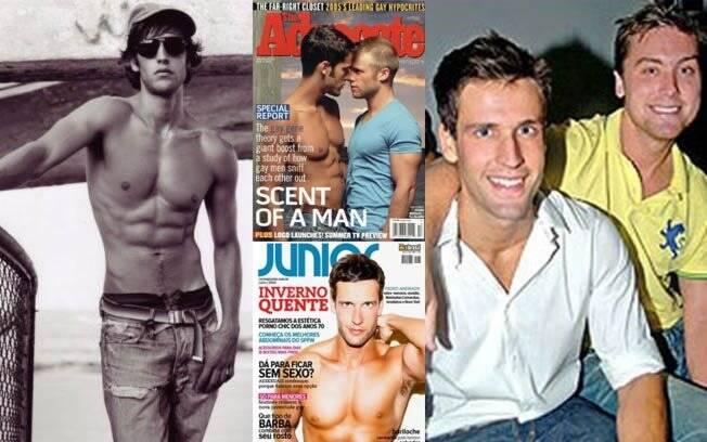 No inicio da carreira, em 2001, capa das revistas gays The Advocate (2005) e Junior (2010) e ao lado de Lance Bass, em 2007, apontado com namorado do músico