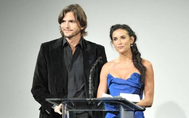 Demi Moore, 48 anos, nasceu em 1962, e o marido Ashton Kutcher, 33 anos, nasceu em 1978