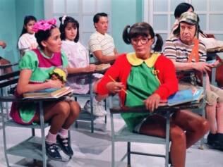 Chaves e Chiquinha na escola