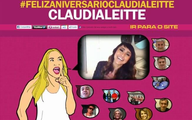 Página especial do aniversário de 31 anos de Claudia Leitte: os fãs que colocarem a hashtag #FelizAniversarioClaudiaLeitte no Twitter aparecerão no site