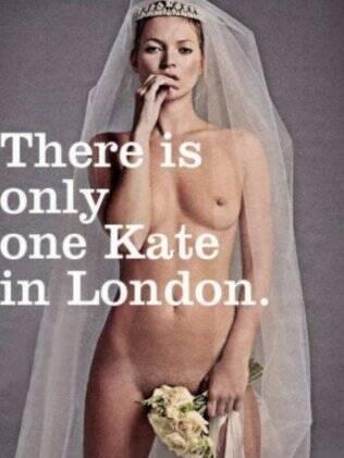 A montagem com Kate Moss que circulou pela internet durante o casamento real