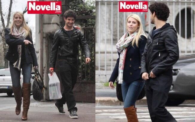 Alexandre Pato e Barbara Berlusconi passam tarde passeando juntos em Milão