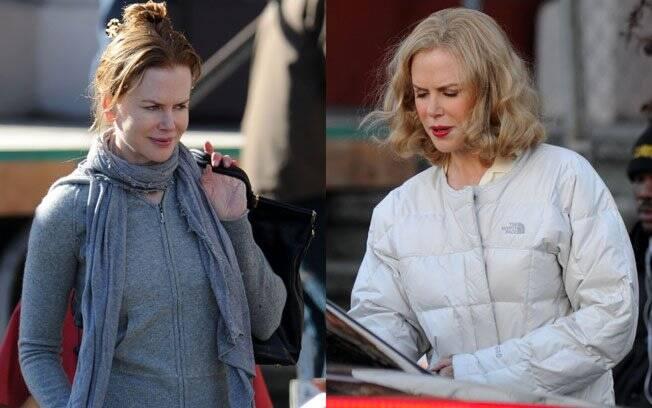 Nicole caracterizada para viver Martha Gellhorn no cinema
