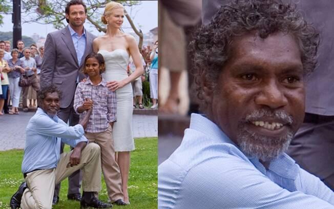 Nicole Kidman, Hugh Jackman, David Ngoombujarra e o pequeno Brandon Walters