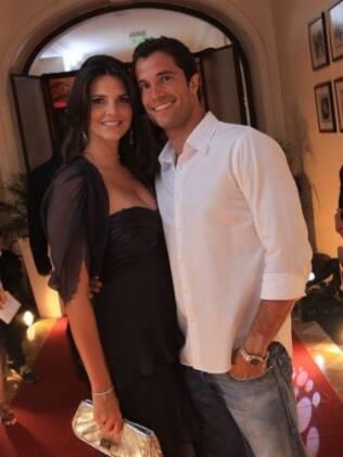 Daniella Sarahyba com o irmão, Flávio