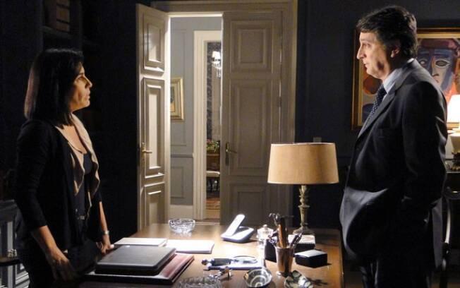 Wagner e Norma conversam sobre Léo