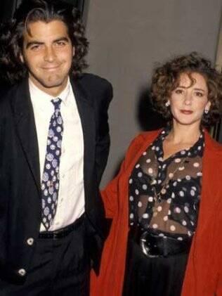 George Clooney e a ex-mulher Talia Balsam