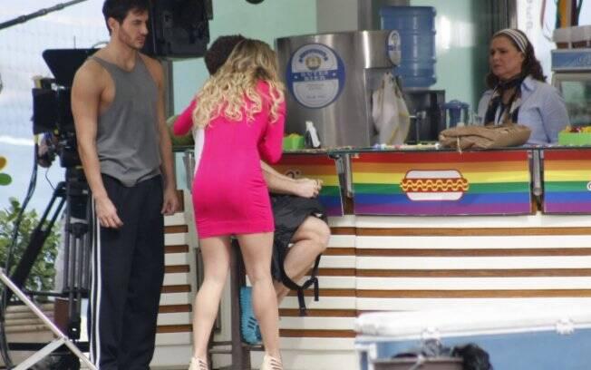Natalie, Douglas e Roni visitam o quiosque de Sueli em Copacabana